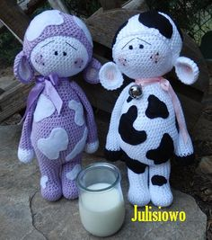 crochet doll Muu and Lilka PDFpattern  Etsy