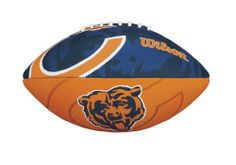 NFL Chicago Bears NFL Junior Team Logo Football-Chicago Bears by Wilson. $17.99. Butyl rubber bladder provides maximum air retention. Wilson Exclusive panel design for better aerodynamics.. Superior gripability for increased passing distance. Perfect for a junior to learn to throw and catch. Machine sewn rubber panels with all over team graphics. Wilson is the Official Ball of the NFL.  Learn to play like the pros on your favorite team with this Official Junior NFL...