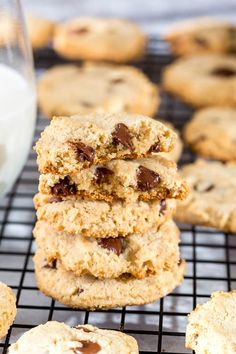 These gluten free, dairy free, egg free almond cookies are chewy and delicious. So much flavor in every bite, you won't believe how good they are! Plus, these paleo cookies are unbelievably easy to make.