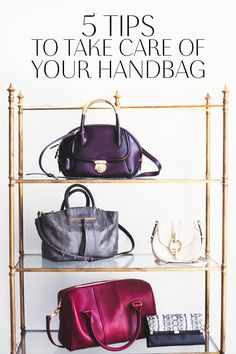 Here are 5 simple tips on how to maintain the pristine quality of your purses>>>http://bit.ly/1pIUYS0