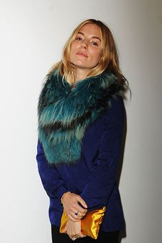 London Fashion Week Spring 2014: Matthew Williamson Front Row - Sienna Miller