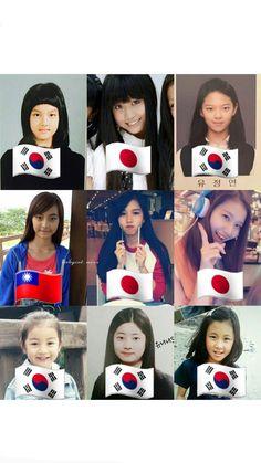Twice in younger days Nayeon, Blackpink Twice, Twice Jyp, Kpop Girl Groups, Kpop Girls, Sana Cute, The Band, Fanfic Kpop, Twice Group