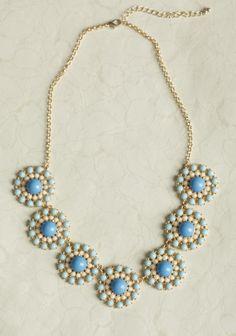 Summer Lagoon Floral Necklace   Modern Vintage Necklaces   Modern Vintage Jewelry