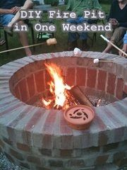 @Melissa Squires Carrier [@Melissa Carrier [@Jemstaa]]: DIY Brick Fire Pit in One Weekend