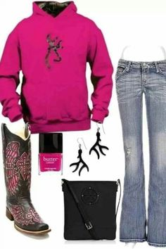 49 Ideas Sweatshirt Dress Outfit Boots Country Girls For 2019 Cute Country Outfits, Country Girl Style, Country Fashion, My Style, Country Life, Southern Fashion, Southern Style, Country Chic, Camo Outfits