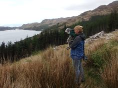 me and mum at inverie