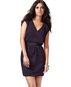 RACHEL Rachel Roy Dress, Bennett Sleeveless Banded Waist - Womens Dresses - Macy's