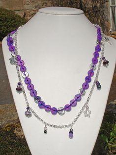 Greek ceramic beads woven flat on cotton