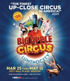 Big Apple Circus - Boston! We can cross this off our bucket list. Took her there on 4/30/2016. Her 1st time to the circus!
