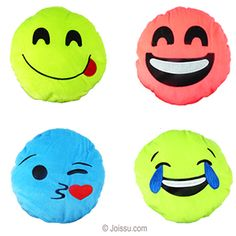 MINI PLUSH COLORFUL EMOJIS. With appliqué and embroidered features on super-soft flannel, these will delight any stuffed animal or emoji fan. Assorted bright colors. Perfect for party favors and Easter basket treats.  Size 5.5 Inches