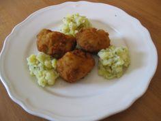 abends bei nicole dann der klassiker: Gebackenen Blumenkohl mit Kartoffelsalat