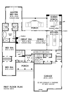 Gardner has house plans, home plans, home designs, and floor plans for both homeowners and builders. Buy the online house plan of your dreams! Best House Plans, Dream House Plans, Small House Plans, House Floor Plans, My Dream Home, Dream Homes, The Plan, How To Plan, House With Porch