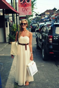 white maxidress