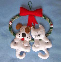 Guirlandas de Natal com gatinhos e cachorrinhos