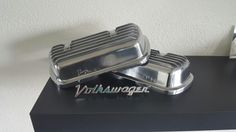 Chrome Aircooled valve covers on the shelve.