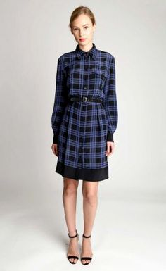 PlaidPatternShirt #Dress I Holmes & Yang Fall Winter 2013  #Fall2013 #trendy #print