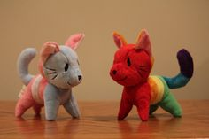 Gatos de orgullo LGBT Colores de la bandera de por ThunderPlushies