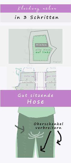 Kleidung nähen leicht gemacht: Eine perfekt sitzende Hose nähen? So geht's ganz einfach: Lieblingshose kopieren, Schnittmuster erstellen, anpassen