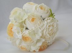 Wedding bouquet bridal bouquet bridesmaids by Mazziflowers on Etsy, $35.00
