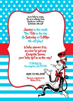 Dr Seuss Baby Shower Invitation Template is perfect invitations design