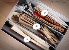 Muji Storage, Storage Ideas, Kitchen Organization, Clutter, Diy And Crafts, Life Hacks, Interior, Paper Bags, House