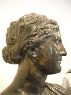 Sappho - from Pisoni's villa at Herculaneum - Naples, Archaeological Museum *note hair