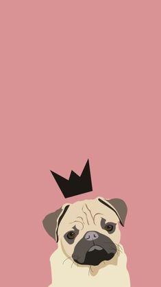 Pug Wallpaper, Animal Wallpaper, Disney Wallpaper, Wallpaper Backgrounds, Pugs Tumblr, Pet Dogs, Dog Cat, Origami And Kirigami, Pug Art