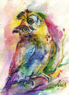 Huh? ~Owl by CheetahArt on deviantART