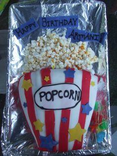 Armani movie night birthday cake