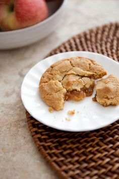Browned Butter Cookies with Cider Caramel Filling