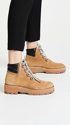 35e121e7f2 3.1 Phillip Lim Dylan Hiking Boots Quilted Leather, Leather Cuffs,  Timberland Boots, Phillip