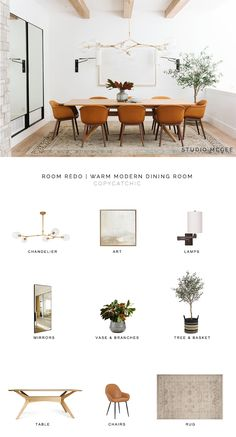 Room Redo studio mcgee look for less, copycatchic luxe living for less, budget home decor and design, daily f Warm Dining Room, Dining Room Design, Living Room Trends, Living Room Modern, Rooms Home Decor, Living Room Decor, Living Rooms, Warm Home Decor, Design Scandinavian