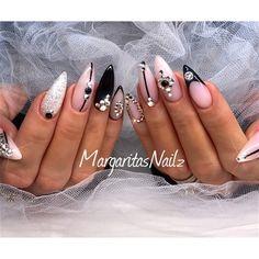 Bling Stiletto Nails by MargaritasNailz