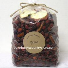 Scented Rose Hips / Potpourri APPLE Super scented! Made in the USA! Size: 2 Pound Bag (10 cups)