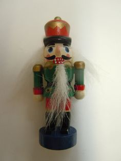 Wooden Green Nutcracker Brooch