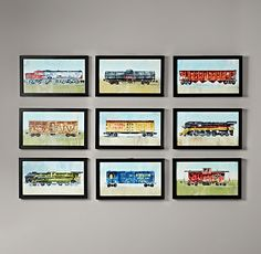 Jacobs new room: $69 RH Vintage Train Car Art | Wall Art | Restoration Hardware Baby & Child