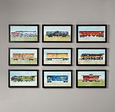 Jacobs new room: $69 RH Vintage Train Car Art | Wall Art | Restoration Hardware Baby & Child