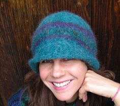 Handknit Felted Hat or Cloche