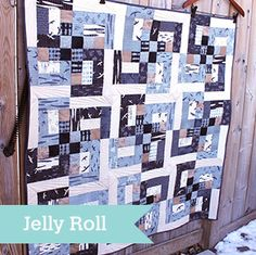 Maritime Baby Quilt by Andrea Harris. Precut-friendly: Jelly Roll