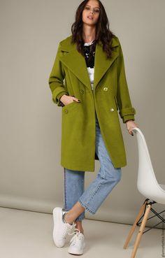 Купить Шерстяное пальто-футляр - однотонный, пальто женское, пальто, пальто из шерсти, пальто демисезонное