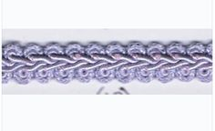 "Our 1/2"" Chinese Braid is a blend of cotton, acetate, and polyester. Used for upholstery, pillows, drapes, crafts, and more. Color: Lilac"