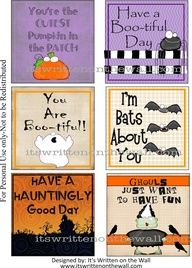 24 Halloween Lunchbox Notes + 12 New Everyday Notes via It's Written on the Wall