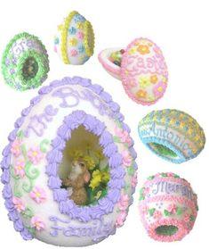 Awesome sugar eggs...tutorial here: http://www.thekitchn.com/how-to-make-diorama-sugar-eggs-113007