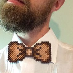 Brown Bowtie Perler Bead Bow Tie by HarmonArt2