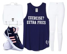 """"""":)"""" by j-n-a ❤ liked on Polyvore featuring Proenza Schouler, adidas, women's clothing, women, female, woman, misses and juniors"""