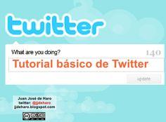Tutorial básico de twitter @jjdeharo    Obtener una cuenta en twitter y su uso básico.