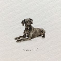 Day 91 : Listen. Feels like everyone's just been doing whatever they like today, telling all kinds of silly stories and making stuff up. So I decided to paint a dog. He's Capetonian, OK?  29 x 22 mm....