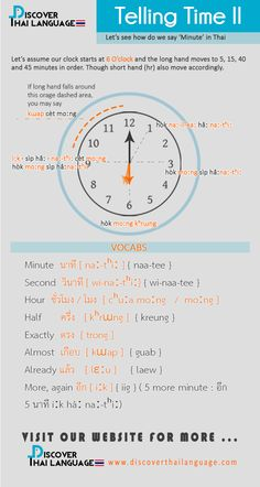 Telling Time II ( Minutes ) - Discover Thai Language