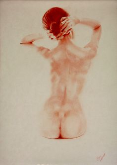 "Saatchi Online Artist: Franco Fusari; Conté, 2010, Drawing ""light & shadow"""