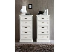 Two 5 drawer chests side by side creating fresh contemporary look